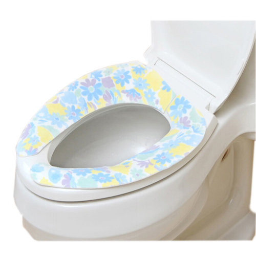 [Floral]Cosy Sticky Washable Toilet Seat Covers Healthy Toilet Seats(15.9*3.7'')