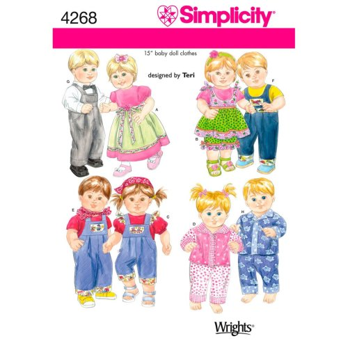 Simplicity 15 Baby Doll Clothes-ONE SIZE