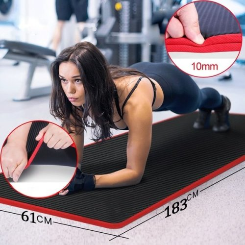 Thick Non-slip Yoga Mats for Fitness Tasteless Pilates Gym Exercise Pads with Bandages