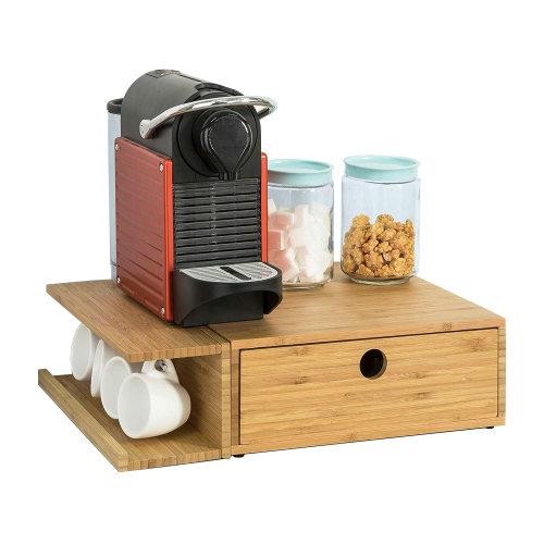SoBuy® FRG269-N, Coffee Pod Capsule Teabags Box Holder Drawer Bamboo
