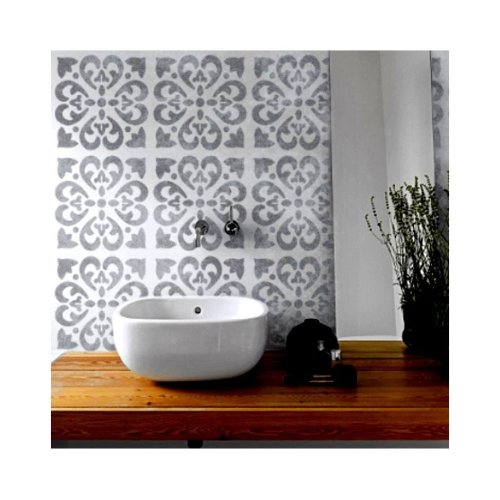 TANGIER Tile Furniture Wall Floor Stencil for Painting