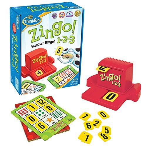 Think Fun Zingo 1-2-3 Number Bingo Game for Age 4 and Up - Award Winner and Toy of the Year Nominee