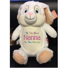 Soft White Bunny - Personalised Message, Name or Birth Date