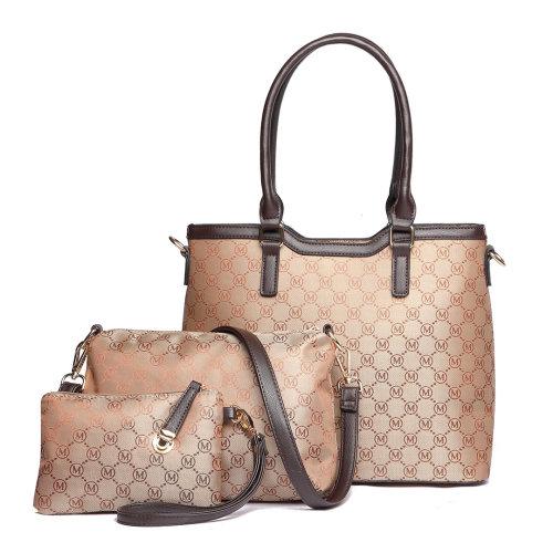 Buy 1 Get 1 at 20% Off Miss Lulu 3PCS Women Shoulder Handbag Cross Body Bag Purse Ladies PU Leather Tote