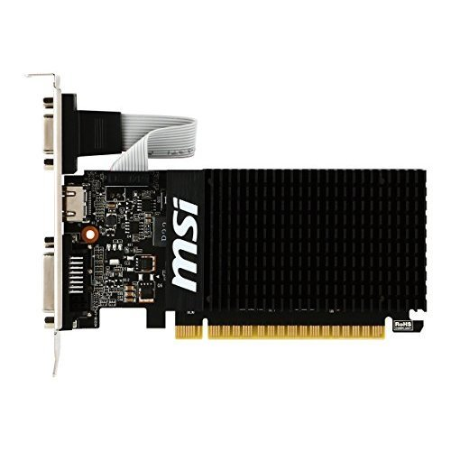 MSI GAMING GeForce GT 710 2GB GDRR3 64 bit HDCP Support DirectX 12 OpenGL 4 5 Heat Sink Low Profile Graphics Card GT 710 2GD3H LP