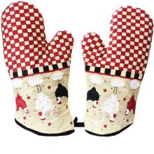 1 Pair Oven Gloves Non-Slip Kitchen Oven Mitts Heat Resistant Cooking Gloves,t