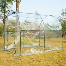 Outsunny Large Walk in Transparent  Pvc Greenhouse  Steel Frame