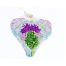 Tartan Thistle Lavender Heart Tapestry Kit
