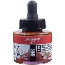 Amsterdam Acrylic Ink 30ml-Burnt Sienna