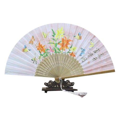 Nice Gift For Women Folding Fan Portable Holding Painted Fan Hand Fan Flower
