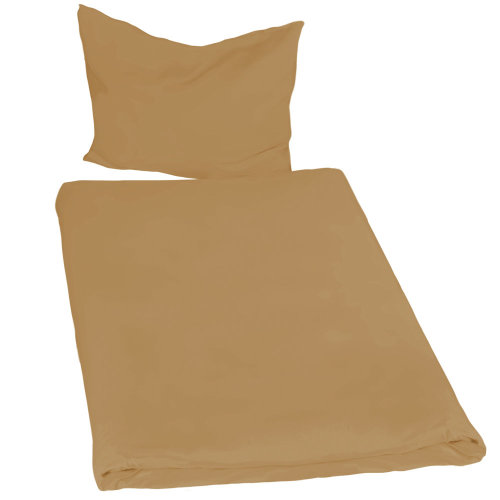2 bedding sets 200x135cm 2-piece brown