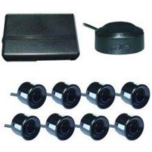 Boyo VTSR220 4 Rear and 4 Front Parking Sensors  Black