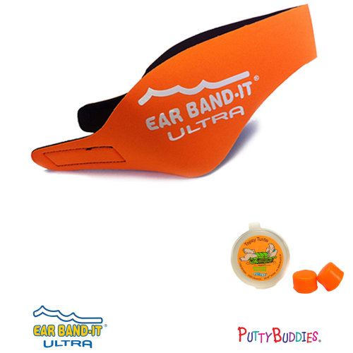 Ear Band-It ULTRA Orange Head Band for Swimming