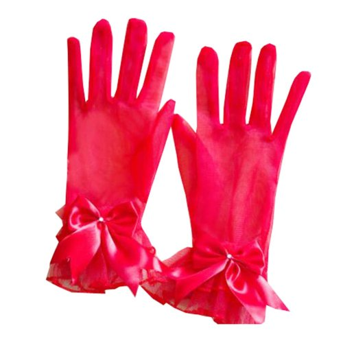 Women's Evening Party Lace Finger Gloves(Short) Gloves For Wedding Prom Party,A5