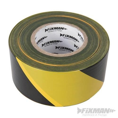 Fixman Barrier Tape 70mm x 500m Yellow/black -  fixman barrier tape 70mm 500m yellowblack