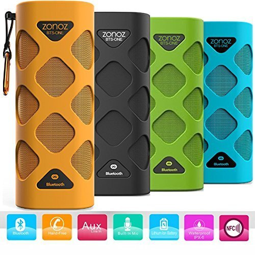 Zonoz BTS ONE 10W Waterproof Wireless Portable Bluetooth Speaker Orange