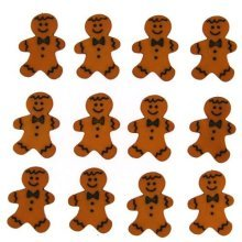 Gingerbread Men - Novelty Christmas Craft Embellishments & Buttons by Dress It Up