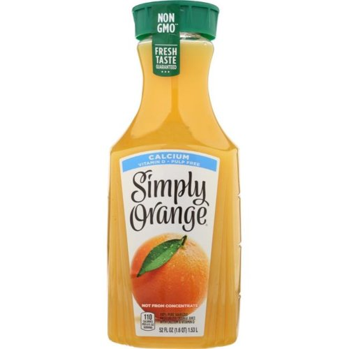 Simply KHFM00318975 Pulp Free Juice with Calcium & Vitamin D, 52 oz