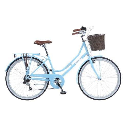 "Viking Belgravia Ladies 26"" Wheel 6 Speed Traditional Heritage Bike Blue 16"""