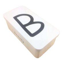 [B] Stylish Double Layer Stationery Case Iron Storage Box Tin Box