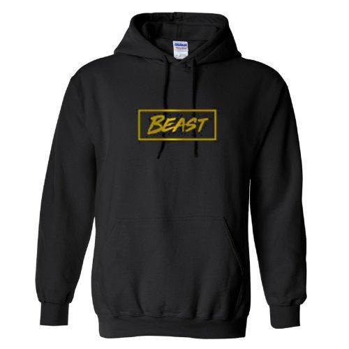 Mr Beast Gold Logo 2 Kids Hoodie