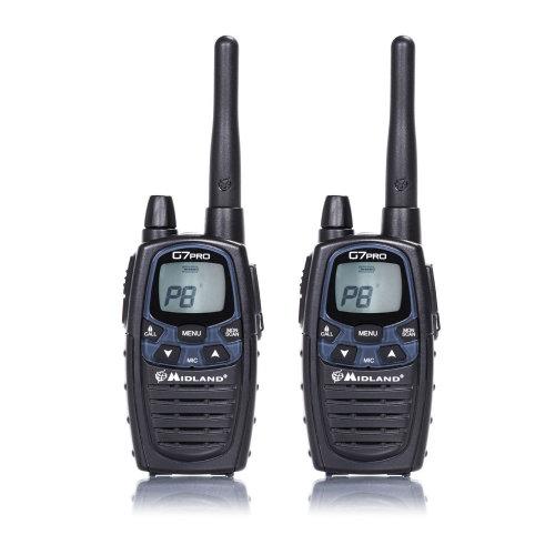 Portable PMR / LPD radio station Midland G7 PRO set with 2 pieces Code C1090