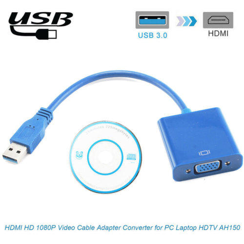 PC Laptop HDTV AH150 USB 3.0 to VGA HD 1080P Video Cable Adapter Converter