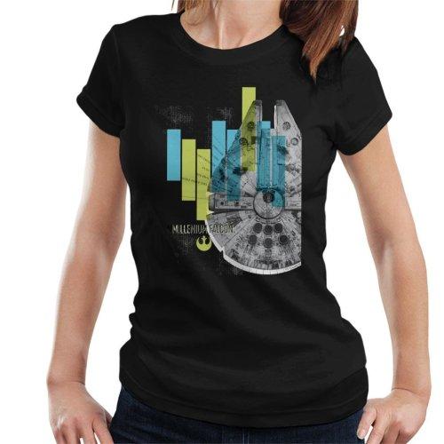 Star Wars Millenniumm Falcon Corellian Light Freighter Women's T-Shirt