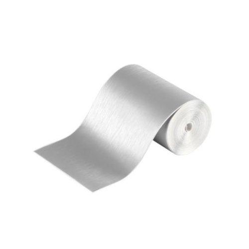 Brushed Aluminium Adhesive Film Protection Anti Scratch Self Adhesive 80mm x 5m