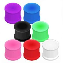 Urban Male Pack of Seven Flexible Silicone Ear Stretching Saddle Plugs Flared 5mm