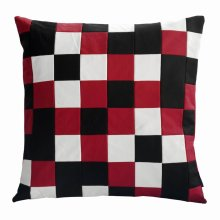 [Red and Black] Square Decor Checkered Pillow Cover 48*48CM