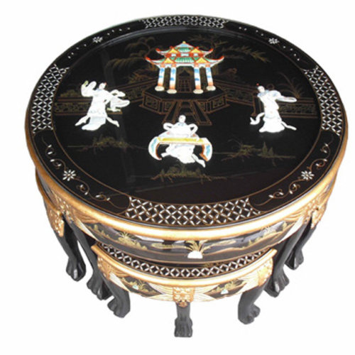 Chinese Coffee Table & Stools