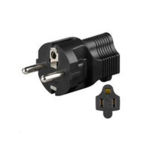 Microconnect PETRAVEL4 Type F (Schuko) Type B Black power plug adapter