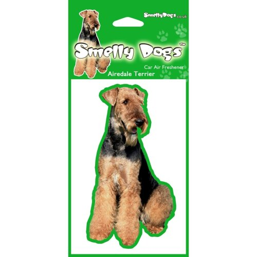 Airedale Terrier Air Freshener x 4 pcs. Each freshener individually packaged - Ideal for you Car, House or Caravan.
