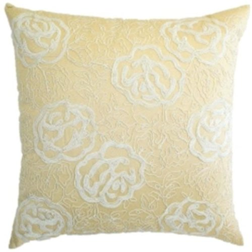gold polysilk with cord beige cord embroidery pillow.