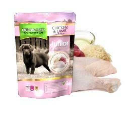 Natures Menu Junior Chicken & Lamb Pouches, 8 x 300g