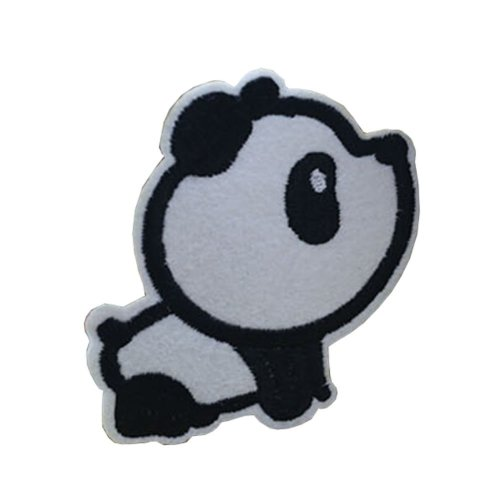 10PCS Embroidered Fabric Patches Sticker Iron Sew On Applique [Panda D]