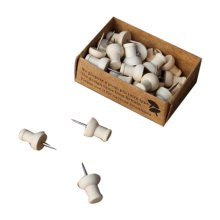 Creative Office Item/ Retro Wooden Pushpins Drawing Pin For school/Office, 30Pcs
