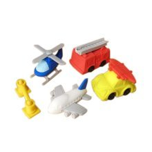 3 Sets Of Creative Cute Cartoon Erasers Aircraft Rescue Modeling