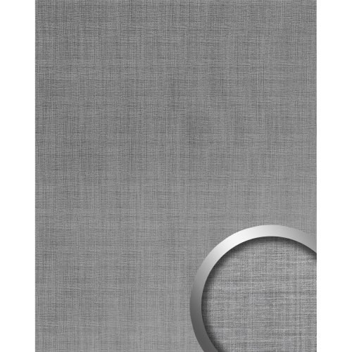 WallFace 20203 Refined Metal Silver AR Design panelling metal look silver 2.6 m2