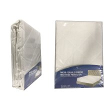 Micro Percale Quilted Mattress Bed Protector Topper Fitted Cover All Sizes