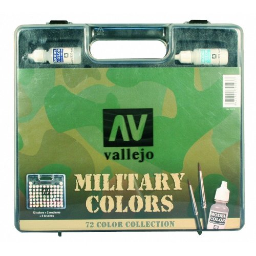 Val70173 - Av Vallejo Model Color Set - Military (72 Colours + Case)