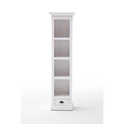 Halifax Painted Furniture Tall Narrow Bookcase With Drawer