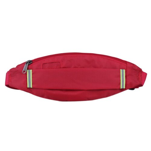 Outdoor Sports And Leisure Large Capacity Fashion Waist Bags, Wine Red