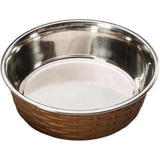 Soho Basket Weave Dish 15oz-Copper