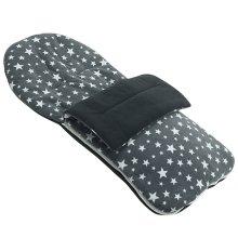 Fleece Footmuff Compatible With Maclaren Triumph - Grey Star