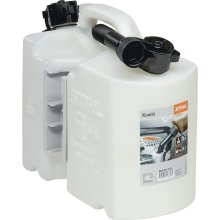 Stihl 8810120Two-Part Fuel Can for 5L Fuel and 3L Oil–Clear