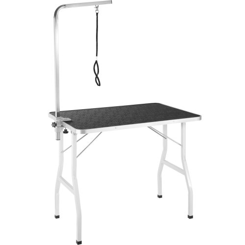 Dog Grooming Table with Arm black/white