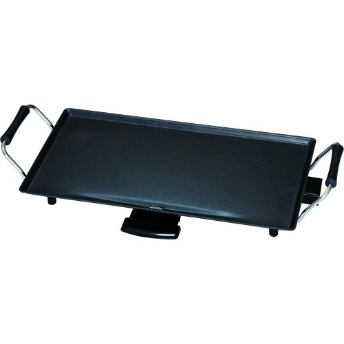 Kingavon Table Top Teppanyaki Grill, Drip Tray, 2000 W, Black