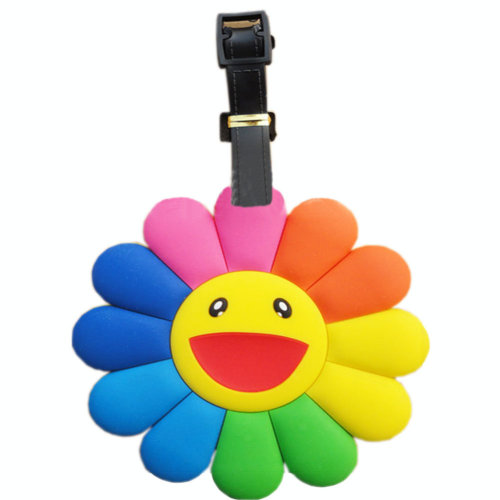Lovely Colorful Sunflower Luggage Tag PVC Name Tag Plastic Luggage Tags Bag Tag
